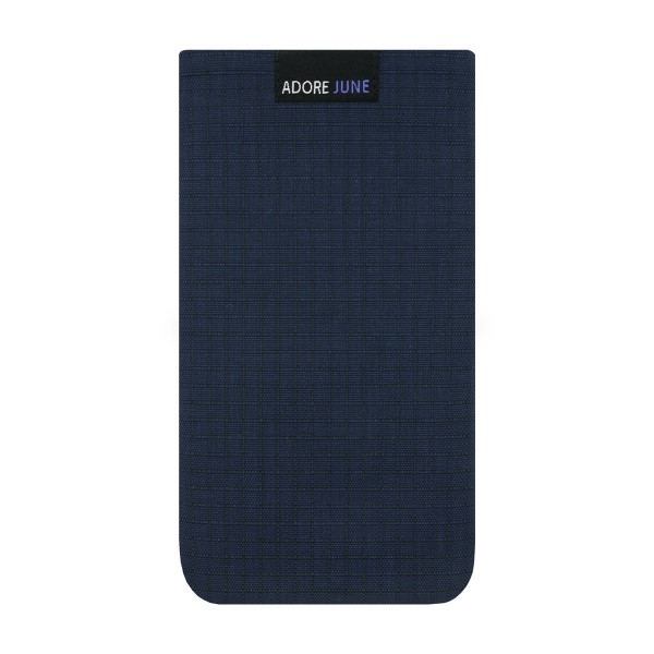 The picture shows the front of Business II Sleeve for Apple iPhone 6 6S and iPhone 7 in color Blue / Black