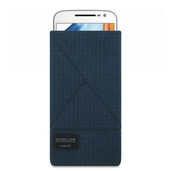 Image 1 of Adore June Triangle Sleeve for Motorola Moto G4 and Moto G4 Plus Color Blue