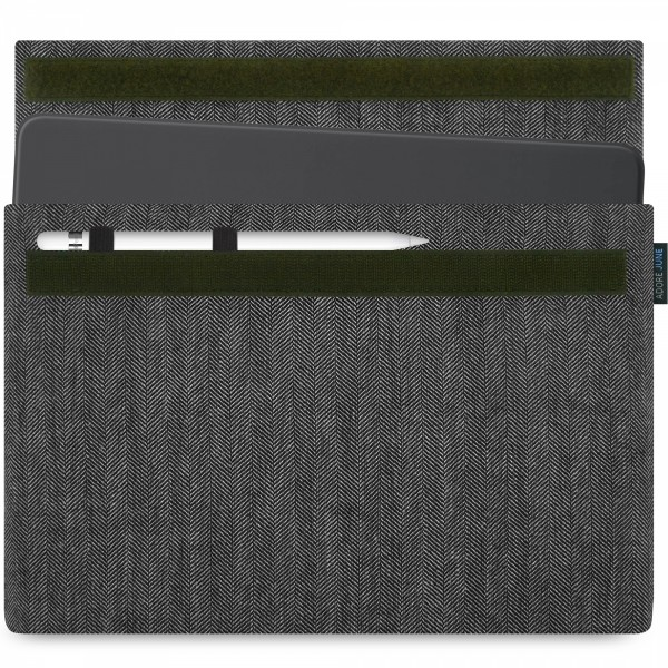Image 1 of Adore June Business Sleeve for Apple iPad Pro 11 and iPad Pro 10.5 with Apple Pen Holder Color grey / black