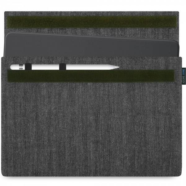 Bild 1 von Adore June Business Hülle für Apple iPad Pro 11 und iPad Pro 10.5 mit Apple Pen Halterung in Farbe grey / black