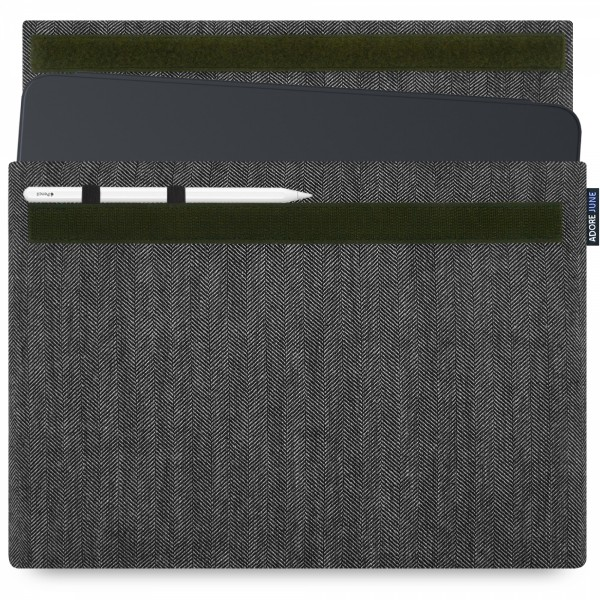 Image 1 of Adore June Business Sleeve for Apple iPad Pro 12 2018 with Apple Pen Holder Color Grey / Black