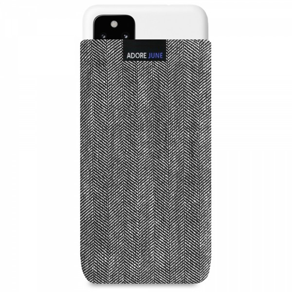 Image 1 of Adore June Business Sleeve for Google Pixel 4a (5G) Color Grey / Black