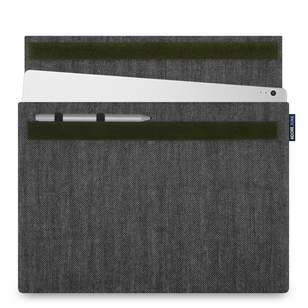 Image 1 of Adore June Business Sleeve for Microsoft Surface Book 13.5 with Surface Pen Holder Color Grey / Black