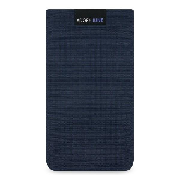 Das Bild zeigt die Vorderseite von Business II Tasche für Motorola Moto G4 und G4 Plus in Farbe Blau / Schwarz
