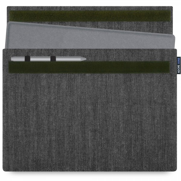 Image 1 of Adore June Business Sleeve for Microsoft Surface Pro 7 / Pro 6 with Microsoft Surface Pen Holder Color Grey / Black