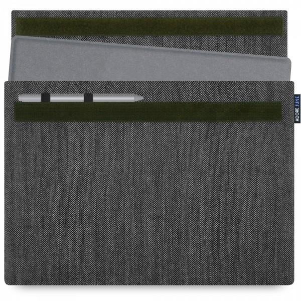 Bild 1 von Adore June Business Hülle für Microsoft Surface Pro 7 / Pro 6 mit Microsoft Surface Pen Halterung in Farbe Grau / Schwarz