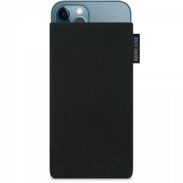 Image 1 of Adore June Classic Sleeve for Apple iPhone 12 Pro Max Color Black