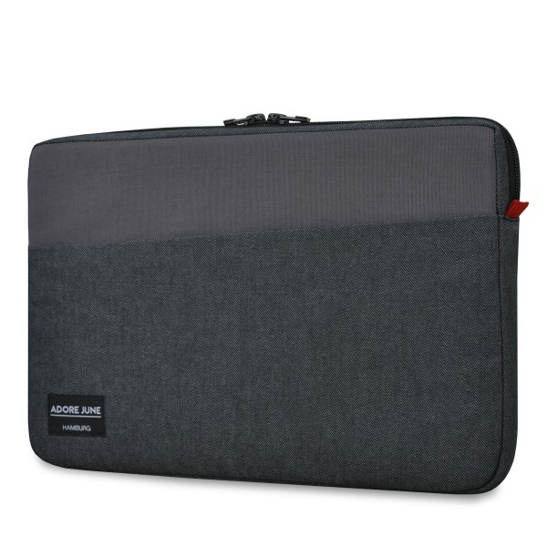 The picture shows the front of Clive Sleeve for Dell XPS 13 in color Black / Grey