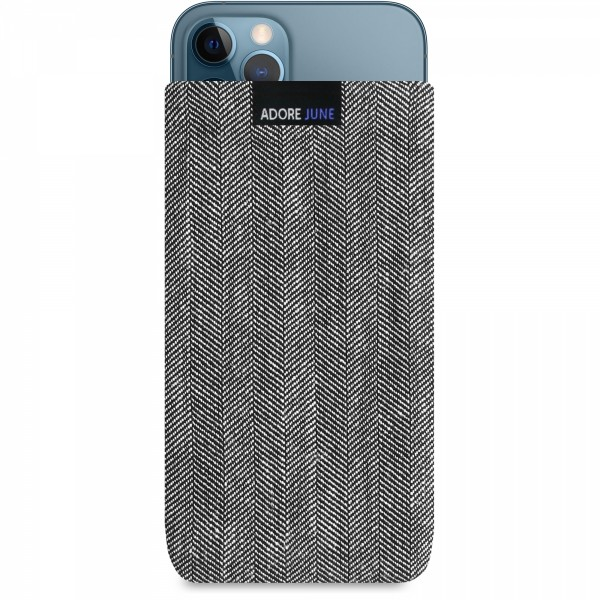 Image 1 of Adore June Business Sleeve for Apple iPhone 12 Pro and iPhone 12 Color Grey / Black