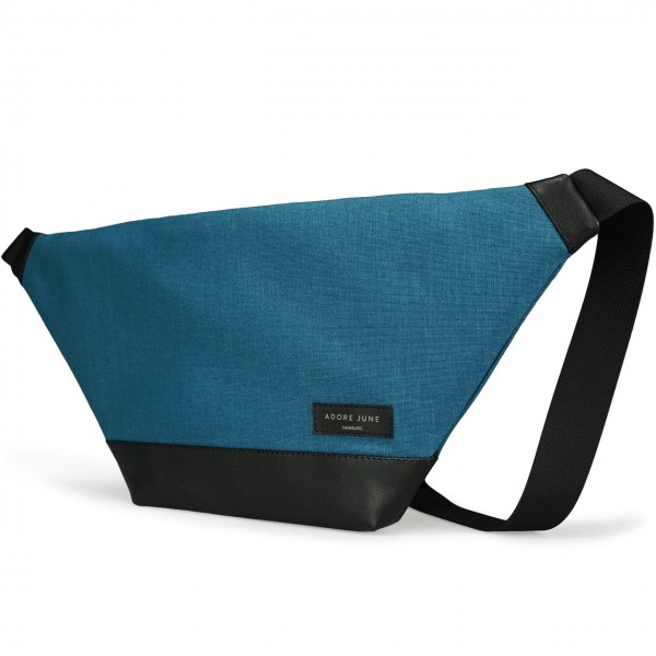 The picture shows the front of Fanny Pack Rohrbacher in color Ocean Blue