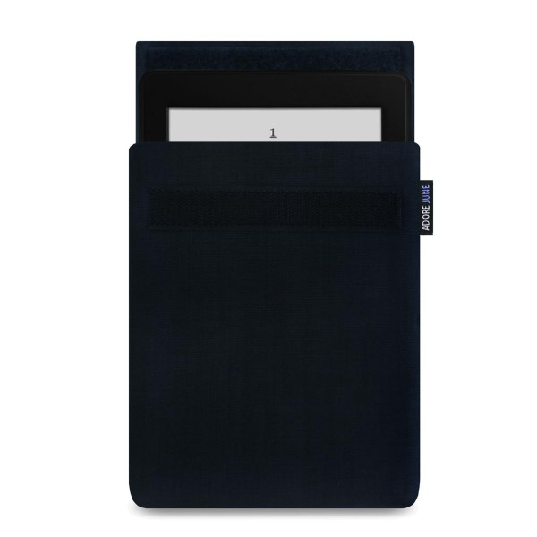 The picture shows the front of Classic Sleeve for Kindle Paperwhite in color Black; As an illustration, it also shows what the compatible device looks like in this bag