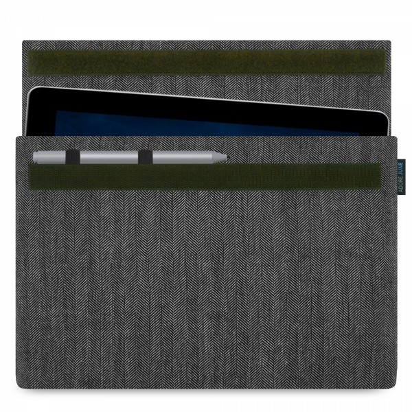 Image 1 of Adore June Business Sleeve for Microsoft Surface Go with Microsoft Pen Holder Color Grey / Black