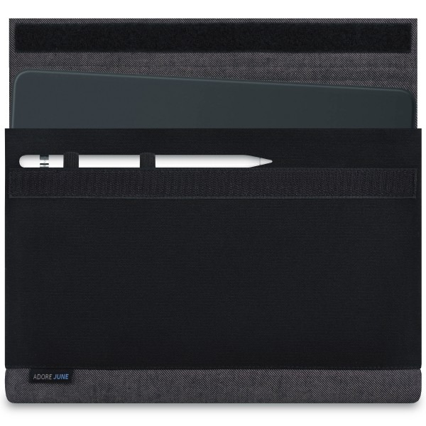 Image 1 of Adore June Bold Sleeve for Apple iPad Pro 11 and iPad Pro 10.5 with Apple Pen Holder Color Grey / Black