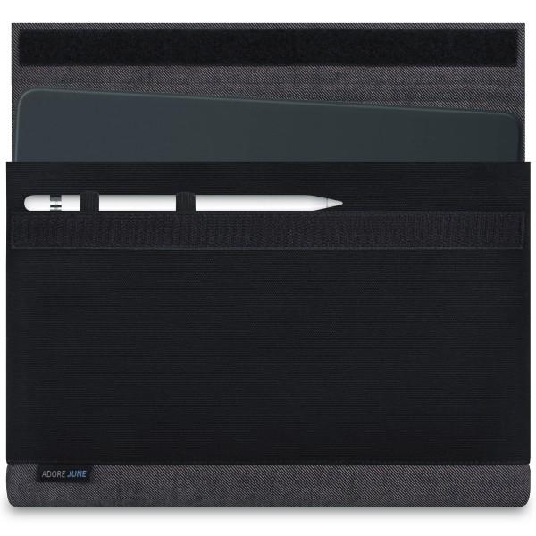 Bild 1 von Adore June Bold Hülle für Apple iPad Pro 11 und iPad Pro 10.5 mit Apple Pen Halterung in Farbe Grau / Schwarz