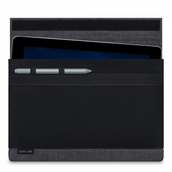 Image 1 of Adore June Bold Sleeve for Microsoft Surface Go with Surface Pen Holder Color Grey / Black