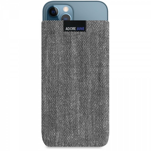 Image 1 of Adore June Business Sleeve for Apple iPhone 12 Pro Max Color Grey / Black