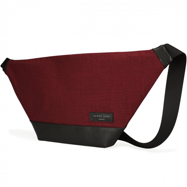 The picture shows the front of Fanny Pack Rohrbacher in color Bordeaux Red