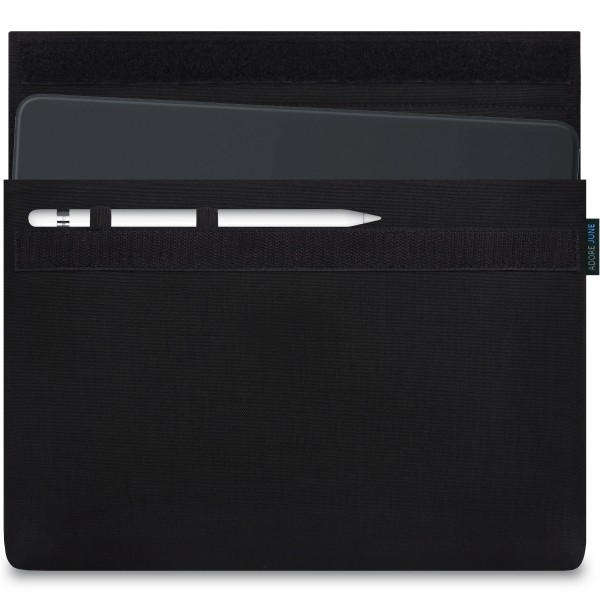 Image 1 of Adore June Classic Sleeve for Apple iPad Pro 11 and iPad Pro 10.5 with Apple Pen Holder Color Black