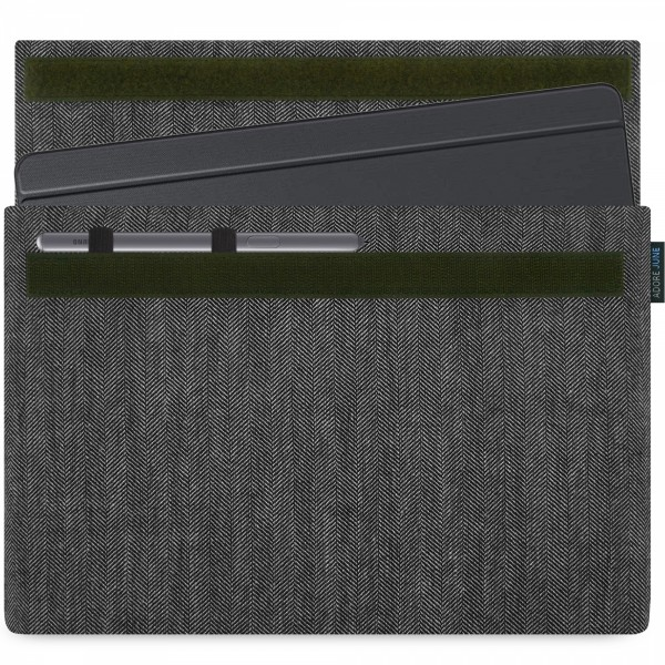 Image 1 of Adore June Business Sleeve for Samsung Galaxy Tab S6 with Samsung S-Pen Holder Color Grey / Black