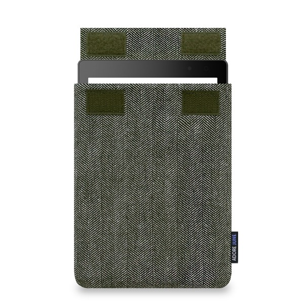 The picture shows the front of Business Sleeve for Kobo Aura ONE in color Grey / Black; As an illustration, it also shows what the compatible device looks like in this bag