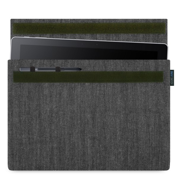 Image 1 of Adore June Business Sleeve for Samsung Galaxy Book 12 with Samsung S-Pen Holder Color Grey / Black