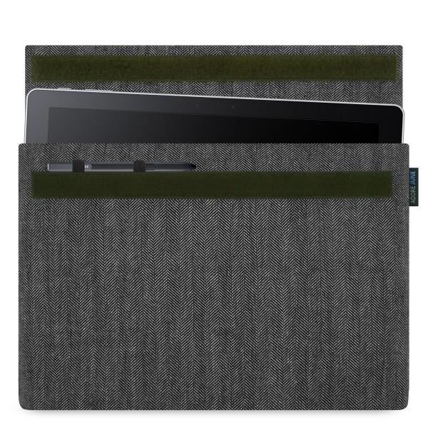 Bild 1 von Adore June Business Hülle für Samsung Galaxy Book 12 mit Samsung S-Pen Halterung in Farbe Grau / Schwarz