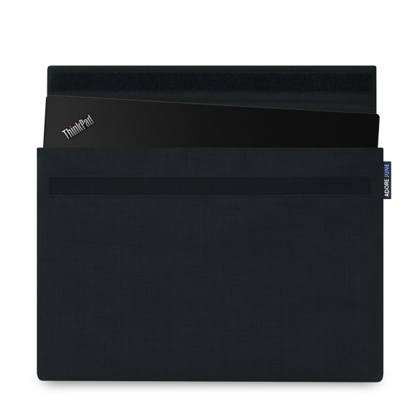 The picture shows the front of Classic Sleeve for Lenovo ThinkPad X1 Carbon 2016 2015 and Thinkpad X1 Yoga 2017 2016 in color Black; As an illustration, it also shows what the compatible device looks like in this bag