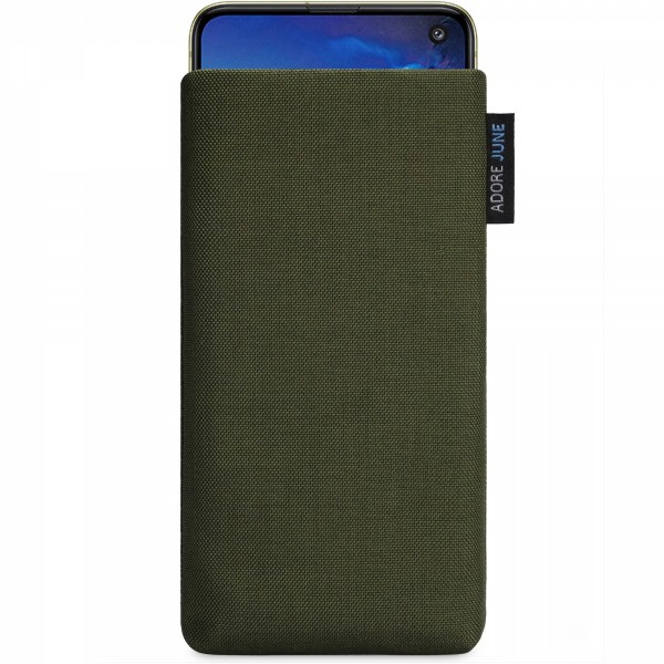 Image 1 of Adore June Classic Sleeve for Samsung Galaxy S10e Color Olive-Green
