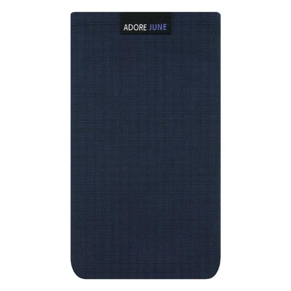 Das Bild zeigt die Vorderseite von Business II Tasche für Apple iPhone 6 Plus 6s Plus 7 Plus in Farbe Blau / Schwarz