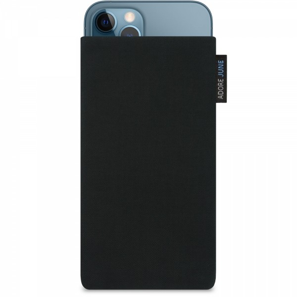 Image 1 of Adore June Classic Sleeve for Apple iPhone 12 Pro and iPhone 12 Color Black